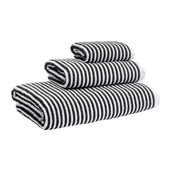 Donald Stripe Towel - White/Black