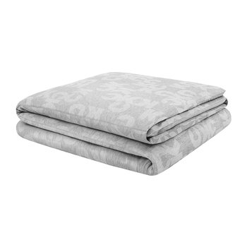 Monogram Logo Quilt Cover - Heathered Grey