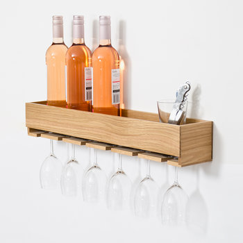 Glass Holder & Shelf