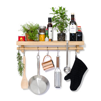Utensil Rail & Shelf