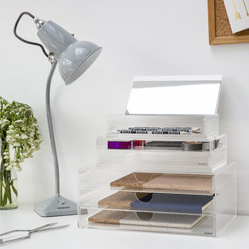 Clear Storage Box with Mirror