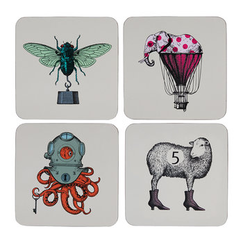 Arti Coasters - Set of 4 - Scaphopoulp/Elephant'R