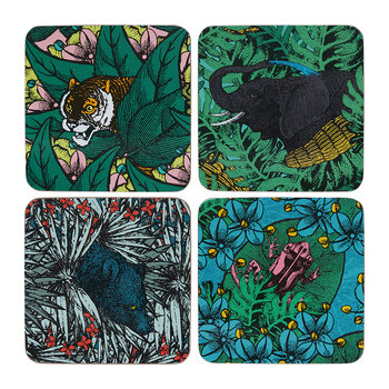Safari Coasters - Set of 4 - Artiger/Anananosaure