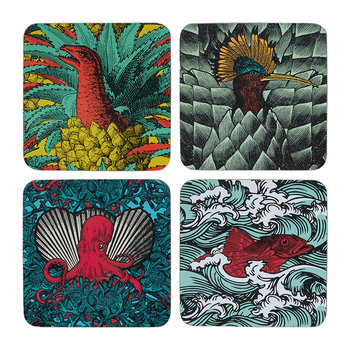 Safari Coasters - Set of 4 - Rasca Wave/ Safarinka