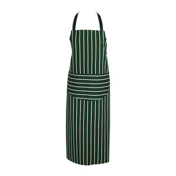 Butchers Stripe Apron - Racing Green