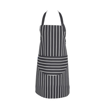 Butchers Stripe Apron - Slate Gray