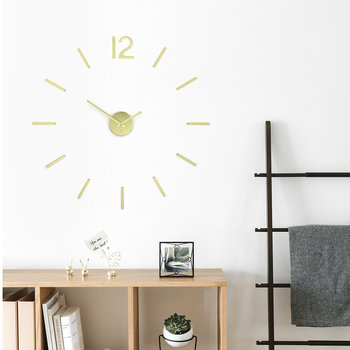 Blink Metal Wall Clock - Brass