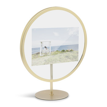 Infinity Elevated Photo Frame - Brass