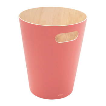 Woodrow Trash Can - Coral