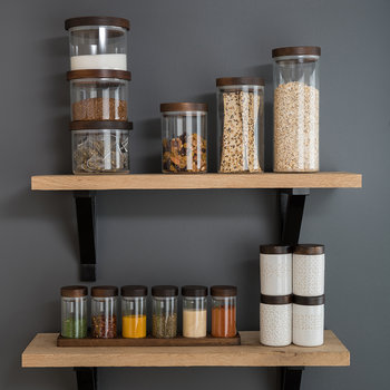 Stacking Glass Storage Jar Set
