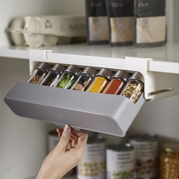 'CupboardStore' Under-shelf Spice Rack - Grey
