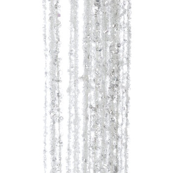 Glitter Hanging Needle Stem - White