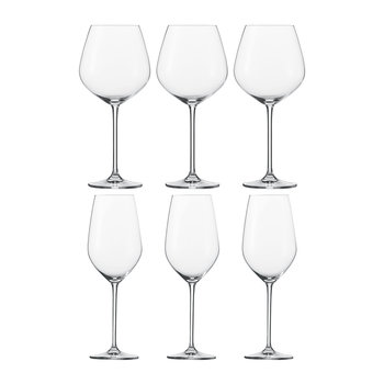Fortissimo burgundy Red Wine Glasses - Set of 6
