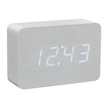 Brick Click Clock - Aluminum / White LED