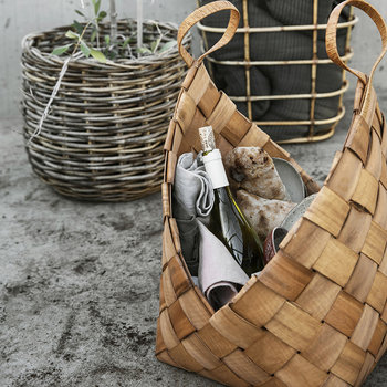 Woven Pine Storage Baskets - Set of 3