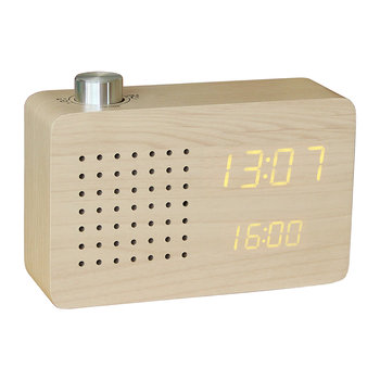 Radio Click Clock - Maple / Orange LED