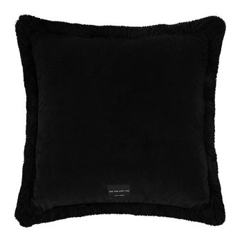 Flora Cushion - Black/Pink