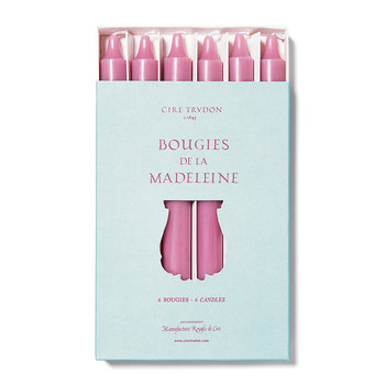 Madeleines Taper Candle - Set of 6 - Pink