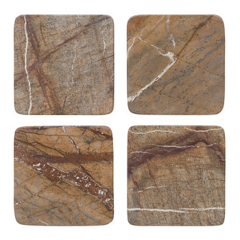 Natural Marble Coasters - Set of 4