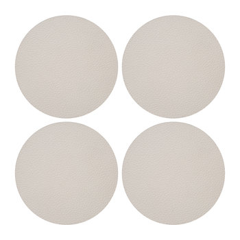 Vegan Leather Coaster - Set of 4 - Pebble