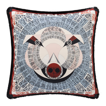 Oroscopo Reversible Cushion - 40x40cm - Pig