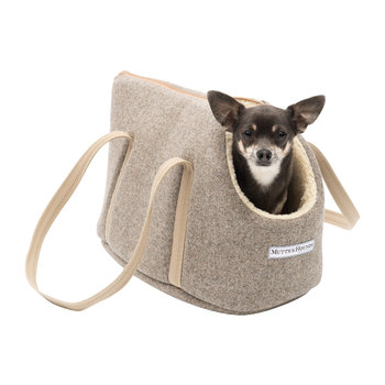 Tweed Dog Carrier - Grey
