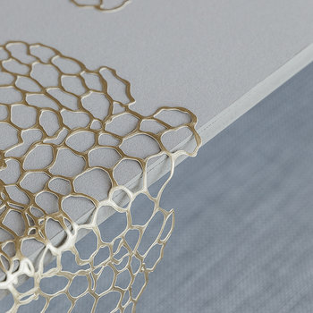 Pressed Vinyl Sea Lace Placemat - Brass
