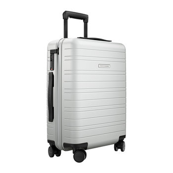 Smart Hard Shell Suitcase - Light Quartz Gray