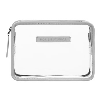 Trousse de Toilette Transparente - Gris Quartz Clair