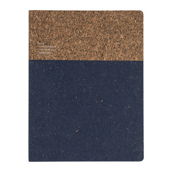 Cork Notebook - Blue