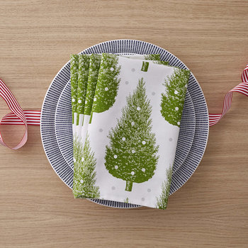 Christmas Tree Napkins - Set of 4