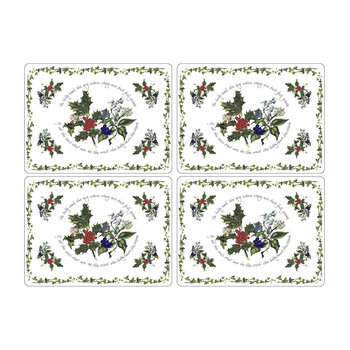 The Holly & The Ivy Placemat - Set of 4