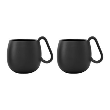 Nina Tea Mug - Set of 2 - Charcoal