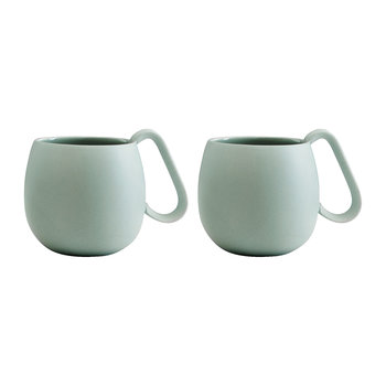 Nina Tea Mug - Set of 2 - Peppermint