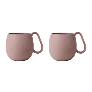 Nina Tea Mug - Set of 2 - Powder Brown