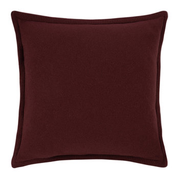 Fishbone Knit Pillow - 50x50cm - 604 Cabernet Red
