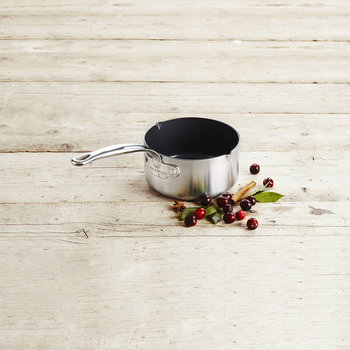 Barcelona Evershine Milk Pan with Spouts - 16cm