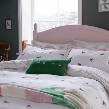 Great British Birds Oxford Pillowcase - Chalk