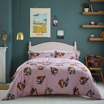 Heritage Peony Quilt Cover - Lilac