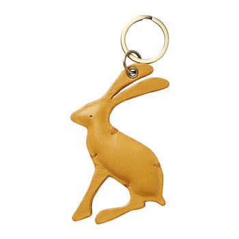 Hangby Leather Hare Keyring - Gold