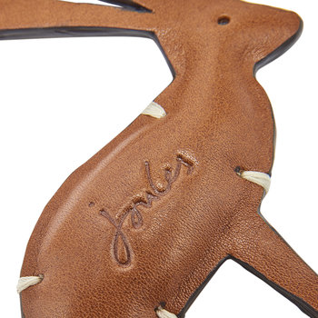 Hangby Leather Hare Keyring - Tan