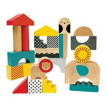 Animal Town Wooden Playing Blocks