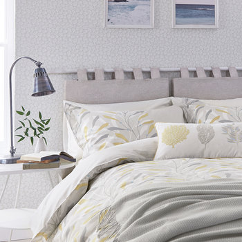 Sea Kelp Duvet Cover - Ocher