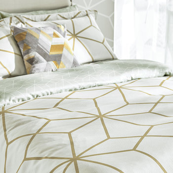 Axal Duvet Cover - Ochre - Double