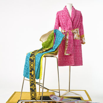 I Love Baroque Bathrobe - Pink
