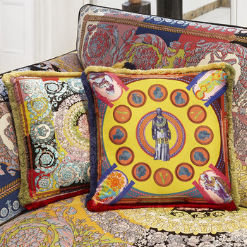 Statue Print Pillow - Multicolor