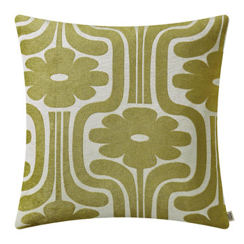 Climbing Daisy Cushion - 50x50 - Yellow/Olive