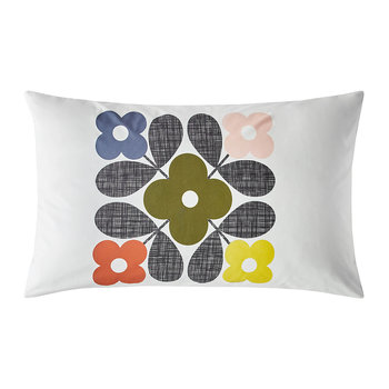 Flower Tile Pillowcases - Set of 2 - Multi