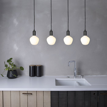 Enno Linear Plate with 4 x Graphite Pendants