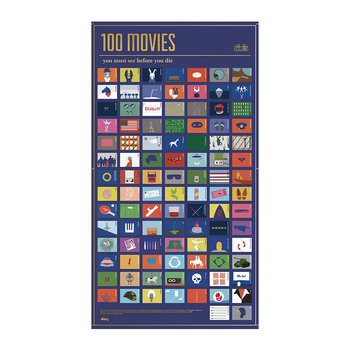 Affiche 100 Choses à Faire - 100 Films